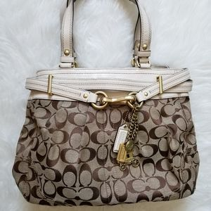Coach Hampton Signature Carryall Satchel Tote purs